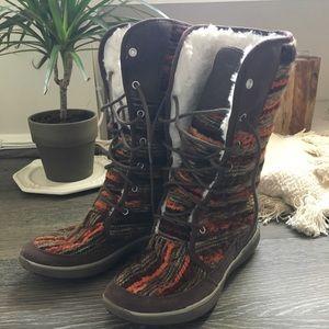 MERRELL Pechora Sky knit tall boot shearling